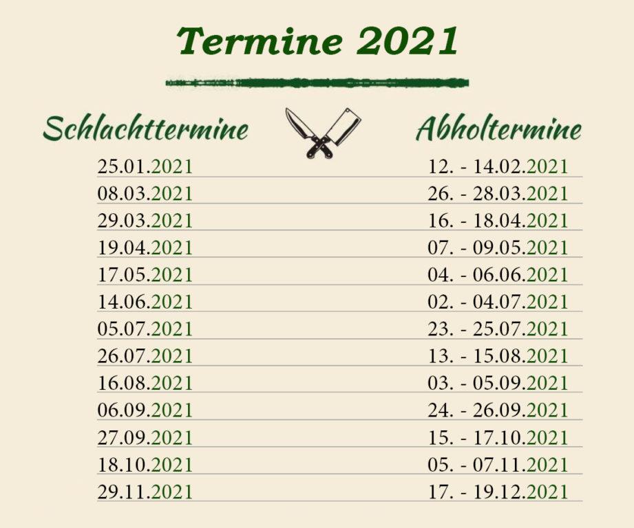 Termine 2021